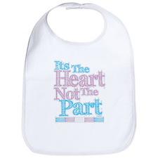 Heart Not The Part Transgender Bib