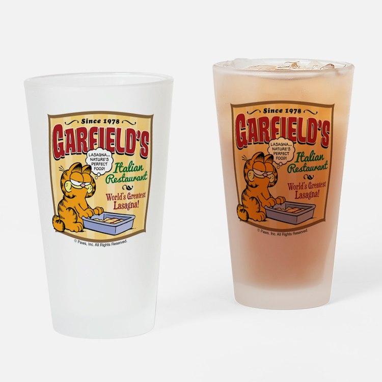 Garfield's Italian Restaurant Drinking Glass