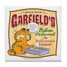 Garfield's Italian Restaurant Tile Coaster