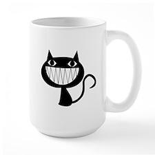 black kitty cat smile Mug