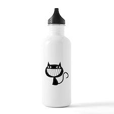 black kitty cat smile Water Bottle