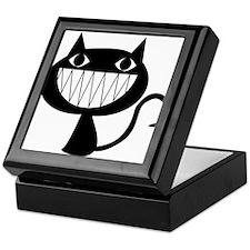 black kitty cat smile Keepsake Box