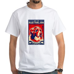 Obey the Australian Shepherd! White T-shirt