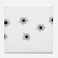 Bullet Holes Tile Coaster