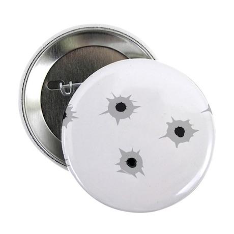 """Bullet Holes 2.25"""" Button"""