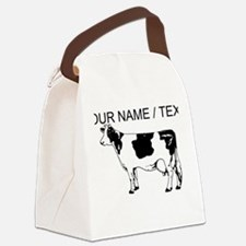 Custom Spotted Cow Canvas Lunch Bag