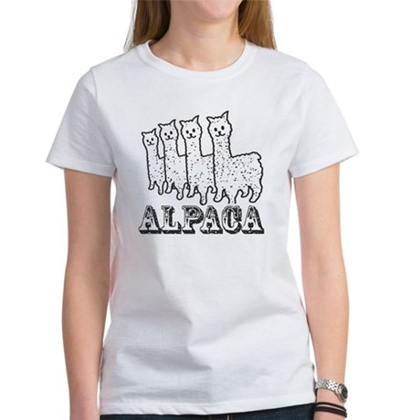 Alpaca 4 Black & White T-Shirt