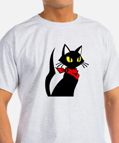 black kitty cat bandanna T-Shirt