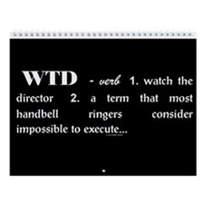 Watch the Director Black Wall Calendar