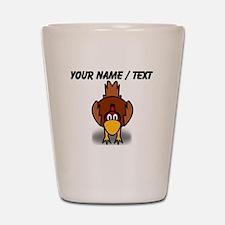 Custom Cartoon Chicken Shot Glass