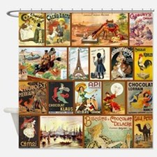 Vintage Chocolate Advertisements Shower Curtain
