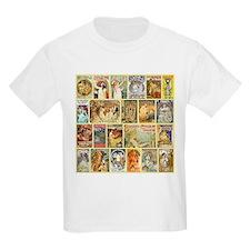 Art Nouveau Advertisements Collage T-Shirt