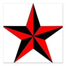 "Nautical Star Square Car Magnet 3"" x 3"""