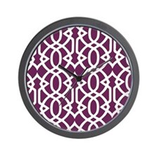 Alyssum & White Trellis Wall Clock