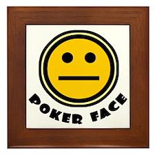 Poker Face Framed Tile