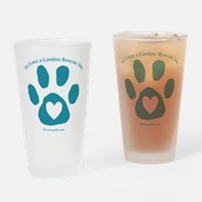 To Love a Canine Rescue, Inc. logo Drinking Glass