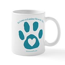 To Love a Canine Rescue, Inc. logo Mug