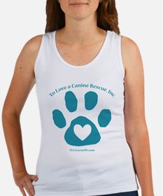 To Love a Canine Rescue, Inc. logo Tank Top