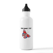 Custom Grey Butterfly Water Bottle