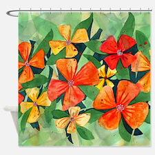 Tropical Flower Splash Shower Curtain