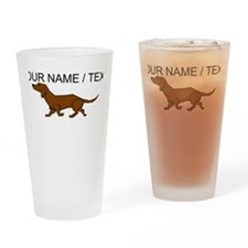 Custom Brown Daschund Drinking Glass
