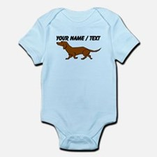 Custom Brown Daschund Body Suit