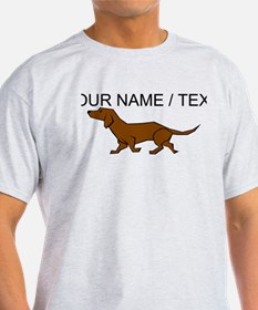 Custom Brown Daschund T-Shirt