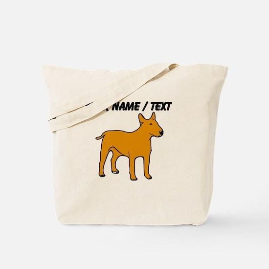 Custom English Bull Terrier Tote Bag