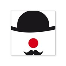 hat, red nose and mustache, clown face design Stic
