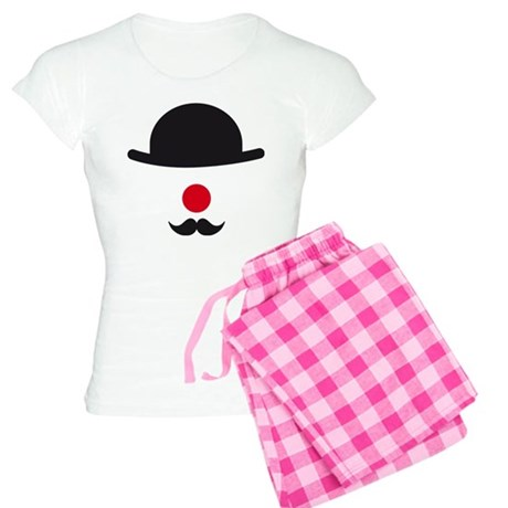 hat, red nose and mustache, clown face design Paja