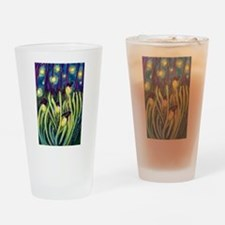 Fireflies Drinking Glass