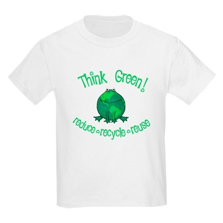 think green environmental earth day frog ja T-Shir