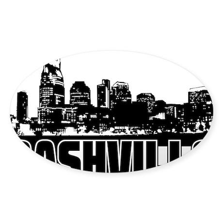 Nashville Skyline Sticker (Oval)