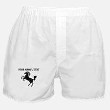 Custom Black Horse Boxer Shorts