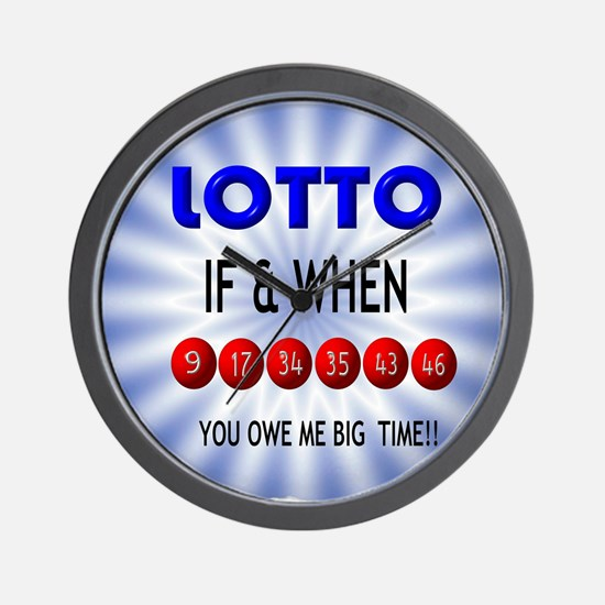 winning lotto numbers Wall Clock