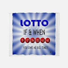 winning lotto numbers Throw Blanket