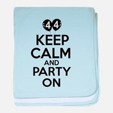 Funny 44 year old gift ideas baby blanket