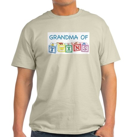 Grandma of Twins Blocks T-Shirt