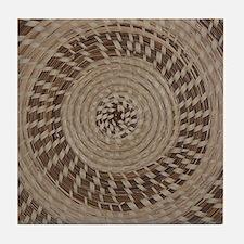 Sweetgrass Basket Design Tile Coaster