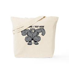 Custom Rhino Mascot Tote Bag