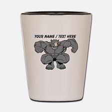 Custom Rhino Mascot Shot Glass