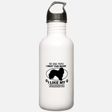 Komondor lover designs Water Bottle
