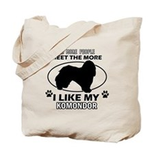 Komondor lover designs Tote Bag