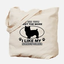 Norwich Terrier lover designs Tote Bag