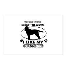 Otterhound lover designs Postcards (Package of 8)