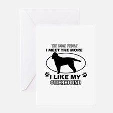 Otterhound lover designs Greeting Card