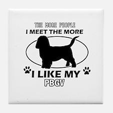PBGV lover designs Tile Coaster
