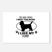 PBGV lover designs Postcards (Package of 8)