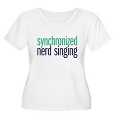 nerd singing Plus Size T-Shirt