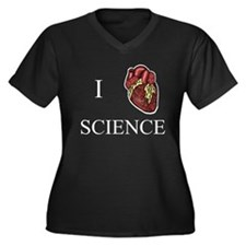I Heart Science Women's Plus Size Dark Tee Plus Si